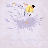 Capoeira Pisao. Vector illustration Stock Photos
