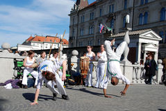 Capoeira presentation Royalty Free Stock Image