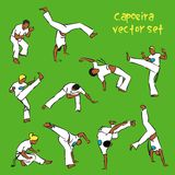 Capoeira set. Vector set of  brazilian capoeira fighting Stock Photo