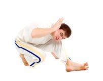 Capoeira Tänzeraufstellung Stockfotografie