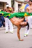 Capoeiristas della samba Immagine Stock