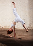Capoeria Cartwheel Demonstration Royalty Free Stock Photo