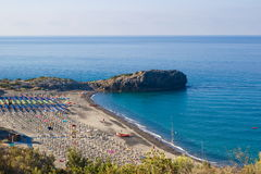Capogrosso-Strand, Cilento in Italien Lizenzfreies Stockbild