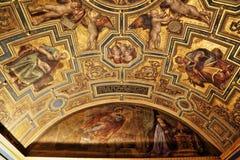 Capolavori nella galleria di Uffizi, Firenze, Italia immagini stock libere da diritti