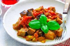 Caponata est un plat sicilien traditionnel Photographie stock
