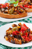 Caponata with raisins and pine nuts Stock Images