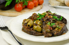 Caponata siciliana Royalty Free Stock Photos