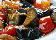 Caponata sicilien di melanzane Photo stock