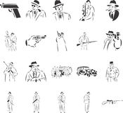 Capone. 20 themed EPS images related to 1930s Chicago crime. The number of vector nodes is absolute minimum. The images are very easy to use and edit and are Royalty Free Stock Images