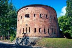 Caponier von Warschaus Zitadelle stockfotos