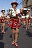 Caporales舞蹈小组-阿里卡,智利 图库摄影
