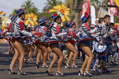 Caporales Dance Group - Arica, Chile Royalty Free Stock Photography