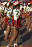 Caporales Dance Group - Arica, Chile Royalty Free Stock Photos