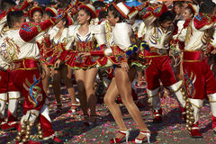 Caporales Dance Group - Arica, Chile Stock Images