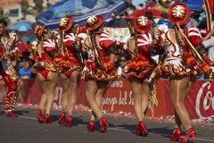 Caporales Dancers - Arica, Chile Royalty Free Stock Image