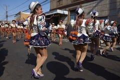 Caporales dansgrupp - Arica, Chile Royaltyfri Foto