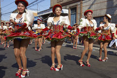 Caporales dansgrupp - Arica, Chile Royaltyfri Fotografi