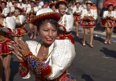 Caporales dansgrupp - Arica, Chile Royaltyfria Bilder