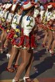 Caporales dansgrupp - Arica, Chile Royaltyfria Foton