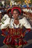 Caporales dansgrupp - Arica, Chile Royaltyfri Bild