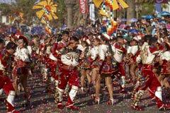 Caporales dansgrupp - Arica, Chile Fotografering för Bildbyråer