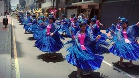 Caporales de los bailarines de Puno Foto de archivo libre de regalías