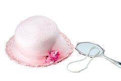 Capot et perles de Pâques Photographie stock libre de droits
