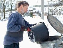 Capovolgimento dei rifiuti Fotografia Stock Libera da Diritti