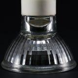 Capovolto nessun lampadine del LED GU10, lampade sopra un fondo nero Fotografia Stock Libera da Diritti
