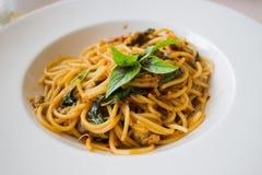 Cappa americana degli spaghetti Fotografie Stock