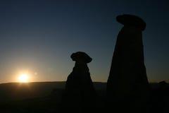 Cappadoccia van de zonsopgang Royalty-vrije Stock Afbeelding