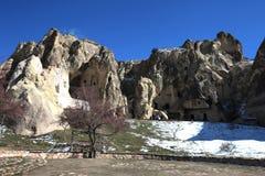 Cappadocia。 古老洞教会 库存照片