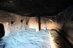 Cappadocia。 古老洞教会 免版税图库摄影