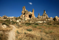 cappadocia使岩石环境美化 库存图片