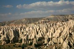 cappadocia使岩石环境美化 免版税库存照片