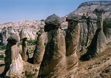 cappadocia烟囱神仙火鸡 免版税图库摄影
