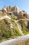cappadocia被雕刻的教会家岩石火鸡 库存图片
