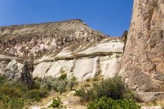 Cappadocia,土耳其 在谷Pashabag (修士谷)的美好的山风景 库存照片