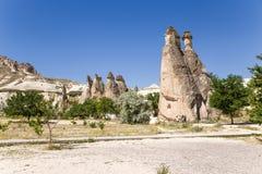 Cappadocia,土耳其 看法Pashabag谷(修士的谷) 免版税库存照片