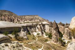 Cappadocia,土耳其 谷的风景看法修士(Pashabag) 库存图片