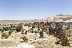 Cappadocia,土耳其 谷的Pashabag (修士谷)蘑菇地方 免版税库存照片