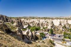 Cappadocia,土耳其 露天博物馆在Goreme国家公园 免版税库存图片