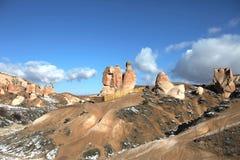 Cappadocia landskap reser den felika lampglaset, Turkiet Royaltyfri Fotografi