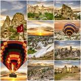 cappadocia καυτή Τουρκία μπαλονιών αέρα κολάζ Στοκ Φωτογραφία