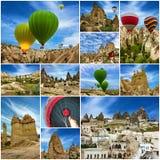 cappadocia καυτή Τουρκία μπαλονιών αέρα κολάζ Στοκ φωτογραφία με δικαίωμα ελεύθερης χρήσης