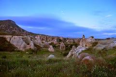 cappadocia Πόλη στο βράχο στήλες της διάβρωσης φαράγγι Φύση Τουρκία Στοκ Φωτογραφίες