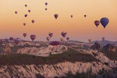 Cappadocia στην ανατολή Στοκ εικόνα με δικαίωμα ελεύθερης χρήσης