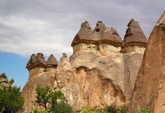 Cappadocia, στυλοβάτες πετρών που δημιουργούνται από τη φύση μέσω της διάβρωσης Στοκ εικόνες με δικαίωμα ελεύθερης χρήσης