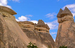 Cappadocia, στυλοβάτες πετρών που δημιουργούνται από τη φύση μέσω της διάβρωσης Στοκ Εικόνες