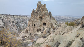 Cappadocia, Τουρκία - 15 Νοεμβρίου 2014: Πανόραμα των μοναδικών γεωλογικών σχηματισμών σε Cappadocia, Τουρκία Στοκ Εικόνες
